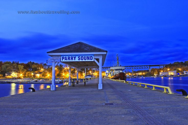 parry sound dock night image