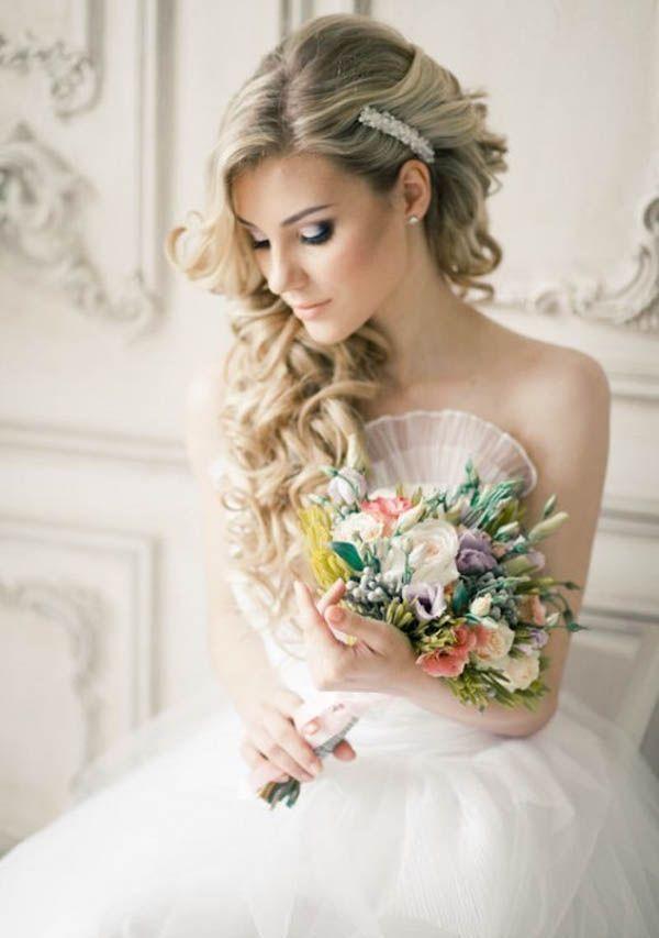 Long Wedding Hairstyles and Bridal Updo Hairstyles for Long Hair from elstile-spb / http://www.deerpearlflowers.com/striking-long-wedding-hairstyle-ideas/