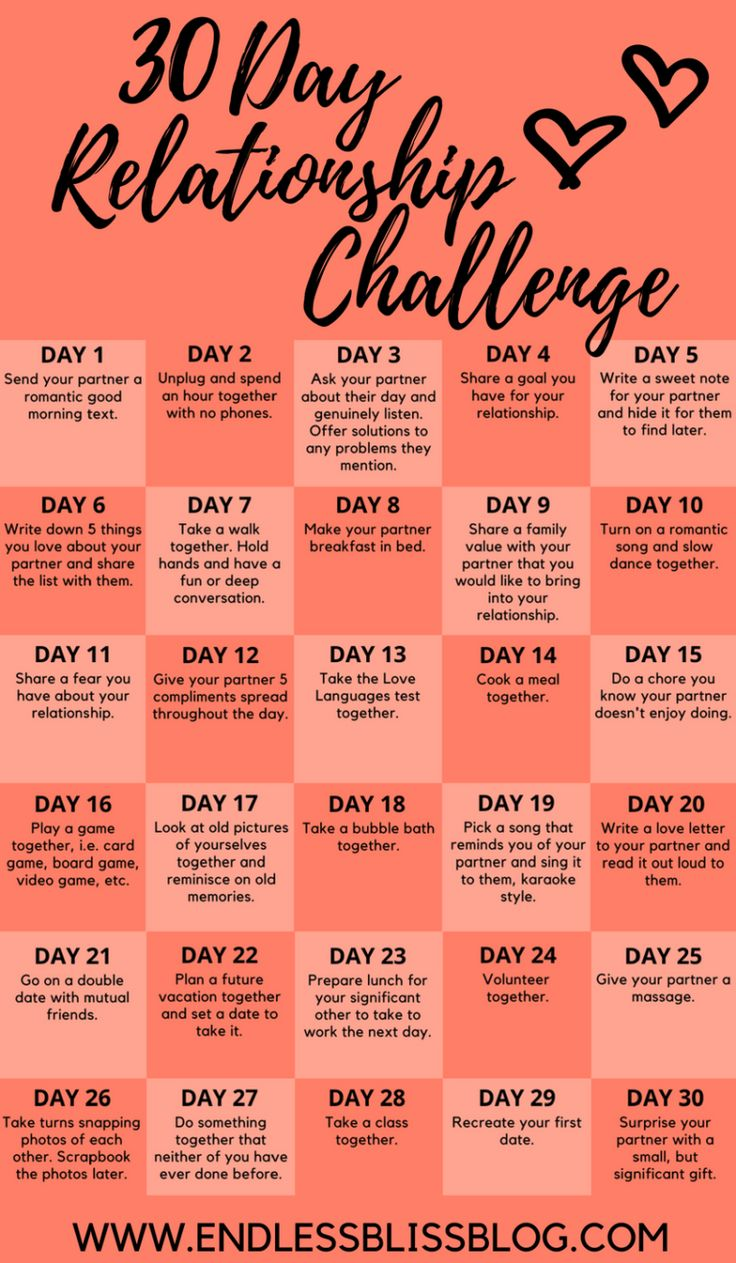 30 Day Relationship Challenge Take this 30 Day Relationship Challenge to help st…