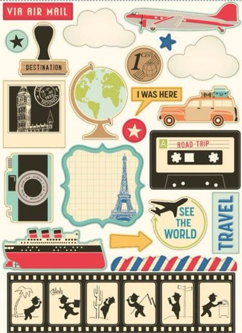 Creative little tags for travel journals