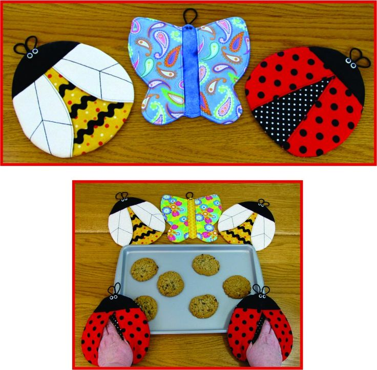 For Even More Fun In The Kitchen, Sew Up Some Really Cute Butterfly, Bee Or  Ladybug Pot Grabbers For Use With The Oven, Microwave Or Stove Top!