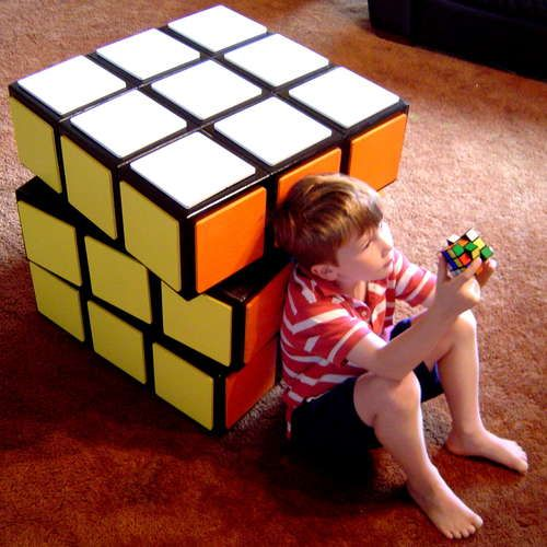 Wow! A Rubik\'s Cube Chest Of Drawers! (via #spinpicks)