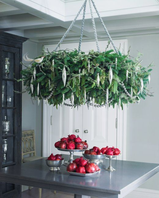 Holiday Wreath Chandelier