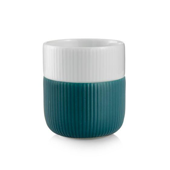 Royal Copenhagen Fluted Contrast Mug - Petroleum