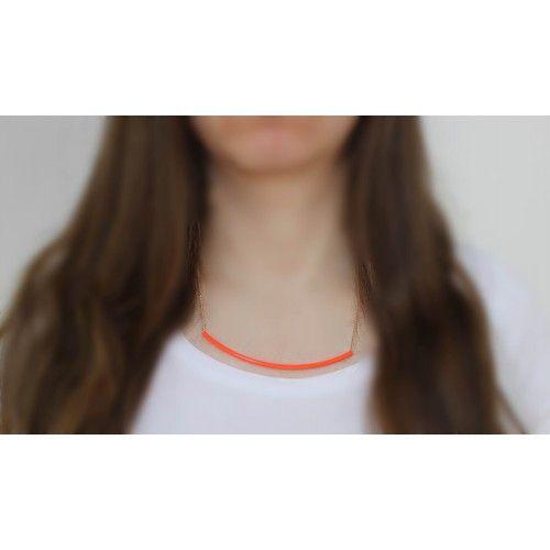Náhrdelník Neon Detail Orange   Womanology.sk