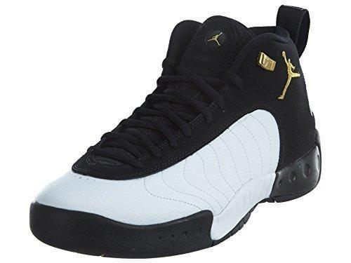 Nike Jordan Men's Jordan Jumpan Pro Black/Metallic Gold/White Basketball Shoe 8 Men US