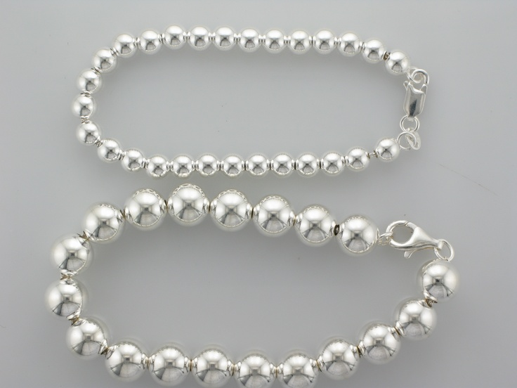 Sterling Silver Hollow Ball Bracelets. Available in 5mm-16mm and the price starts at $55 for 5mm. Style number CH876