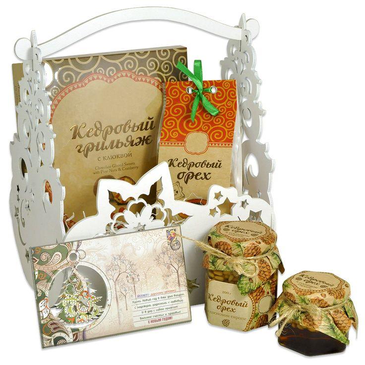 Кедровая корзина сладостей – Профессиональные сувениры