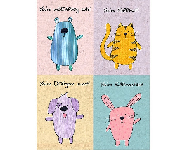 Cute animal puns for valentines day - photo#6