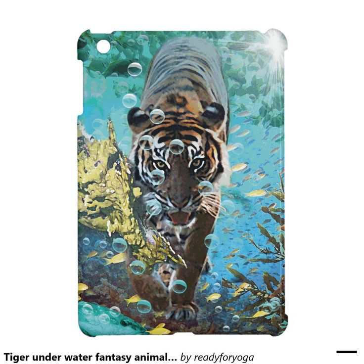 Tiger under water fantasy animal nature case for the iPad mini