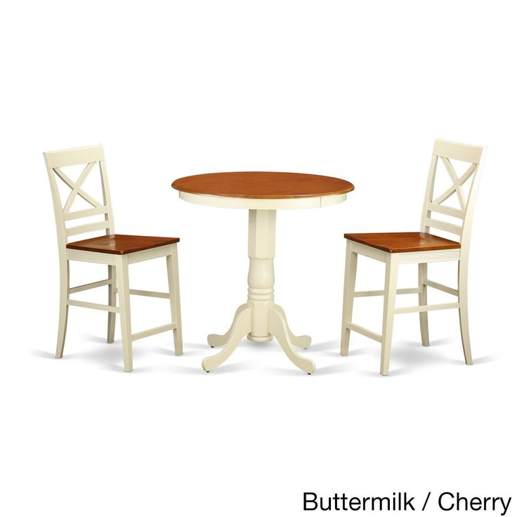 Solid Wood 3 piece Counter height Table and Chair Set  Black. The 25  best Pub table and chairs ideas on Pinterest   Pub chairs
