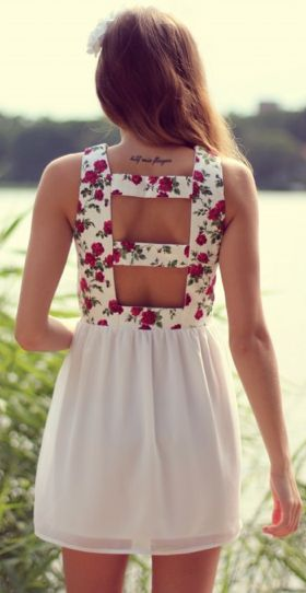 this back style is cool, make middle strap larger not crazy about the floral