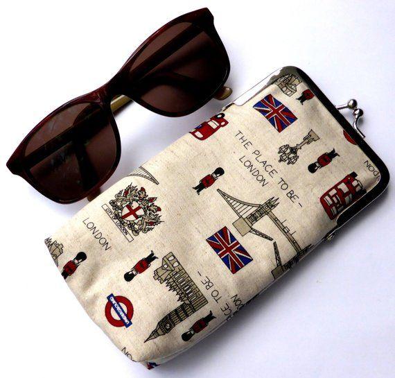 Glasses Case Sunglasses Case Protective Case Clasp Case Eyewear Case Glasses Pouch Handbag Accessory Fabric Purse Glasses Purse Sunglasses Case Glasses Case Handbag