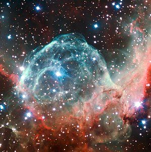 Thor's Helmet Nebula imaged on the occasion of ESO's 50th Anniversary