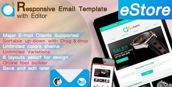 ThemeForest - eStore-Responsive Email Template with Editor Free Download