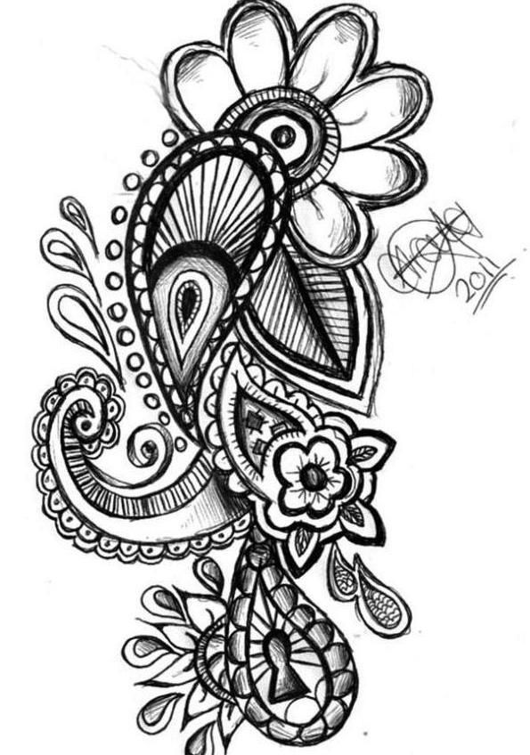 Paisley tattoo | Paisley Tattoo Design - Peg It Board