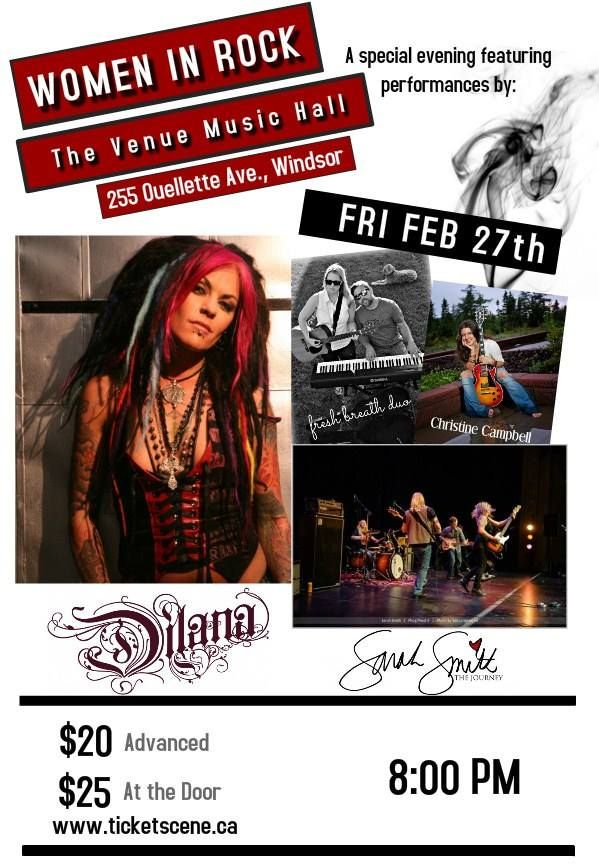 Women in Rock - Windsor, Ontario. Friday February 26th. Tickets available at: http://www.ticketscene.ca/events/12179/