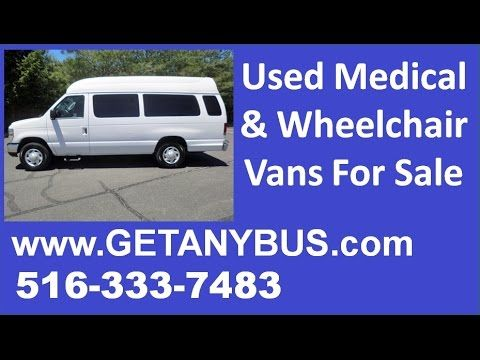 Wheelchair accessible van sale by NY Dealership   Call CHARLIE @ 516-333-7483   2009 Ford E-350 Wheelchair Ambulette Van Bus
