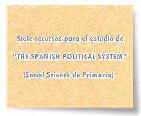 """Siete recursos para el estudio de """"THE SPANISH POLITICAL SYSTEM"""" (Social Science de Primaria)"""