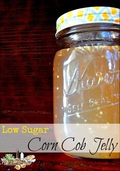 Have leftover corn cobs? Use them to make corn cob jelly! This recipe uses low sugar and Pamona's Pectin.