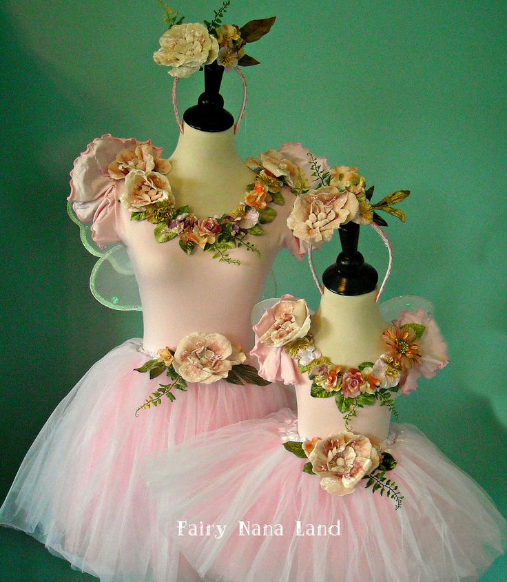 Fairy Costumes - MOMMY  ME -  Adult medium and child's 2T - 4T. $150.00, via Etsy.