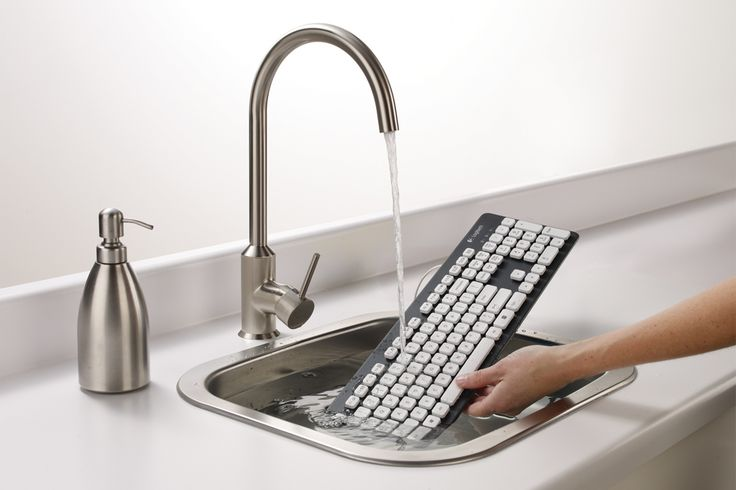 No more worrying about spills! Logitech Washable Keyboard K310