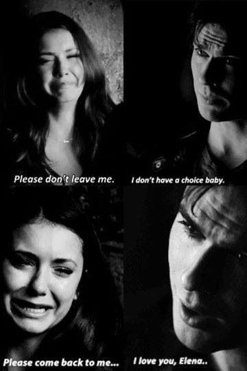 #TVD The Vampire Diaries  Elena & Damon, I cried at this part when I first watched it.. ;-;