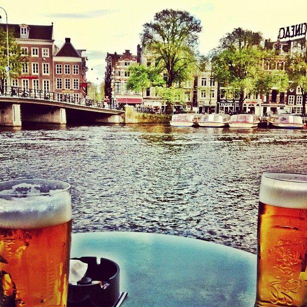 Café de Jaren, Enjoy your lunch at the canals of Amsterdam.