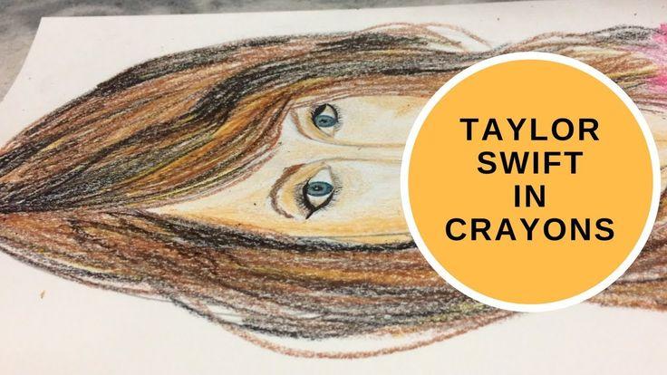 Taylor Swift in Crayons | Crayon Art