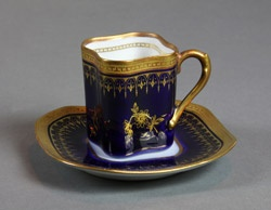 Demitasse Cup and Saucer, Italy, early 20th century: