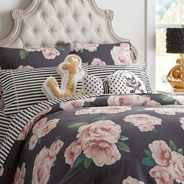 PB Teen The Emily + Meritt Bed Of Roses Duvet Cover, Twin ($89) ❤ liked on Polyvore featuring home, bed & bath, bedding, duvet covers, floral pillow shams, twin bedding, floral duvets, pbteen bedding and floral twin bedding