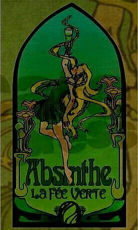 Pin di NOUVEAU LEGACY GRAFX su THE GREEN FAIRY ABSINTHE