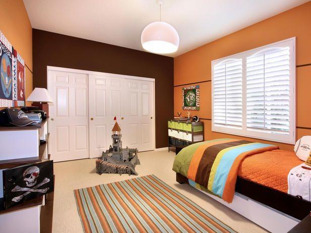 Orange Boy Bedroom