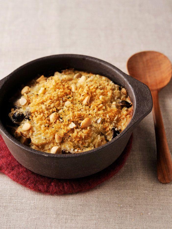 酒粕の甘い香りが漂う、ヘルシードリア。里芋のほくほく感と酵素玄米のもちもち感がマッチ! 『ELLE a table』はおしゃれで簡単なレシピが満載!