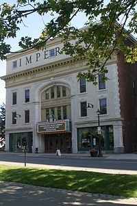 The Imperial Theatre, a National Historic Site still hosting live performances. Saint John, New Brunswick