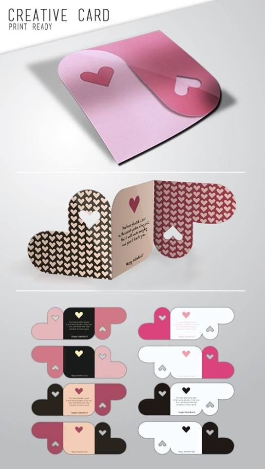 Folded heart card....!! Easy and Unique combination.....