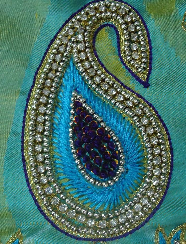 Best neela aari work blouse images on pinterest
