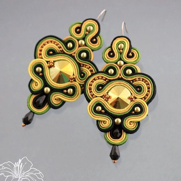 soutache earrings | author: Zuzana Hampelova Valesova (Lillian Bann)…