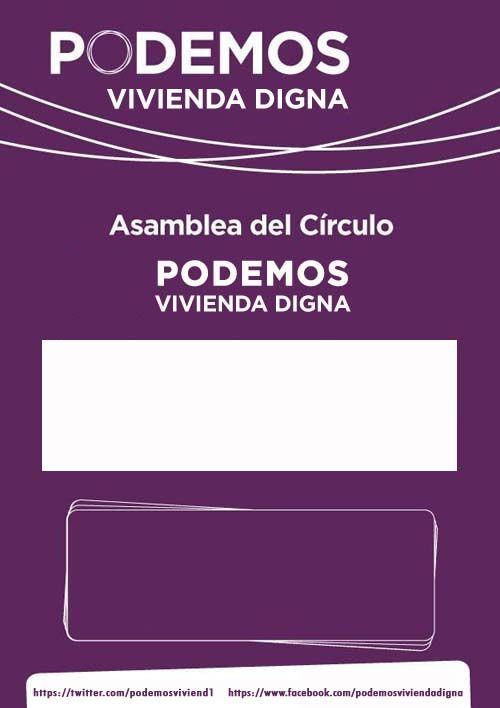 Cartel para evento de #Podemos (2)