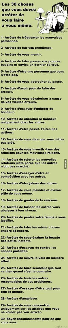 nice Citation - Les 30 choses que vous devez arrêter de vous faire à vous même – Québec Me...