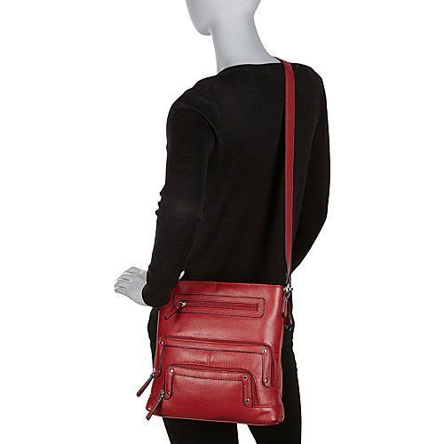La Diva Leather Crossbody Bag - eBags.com