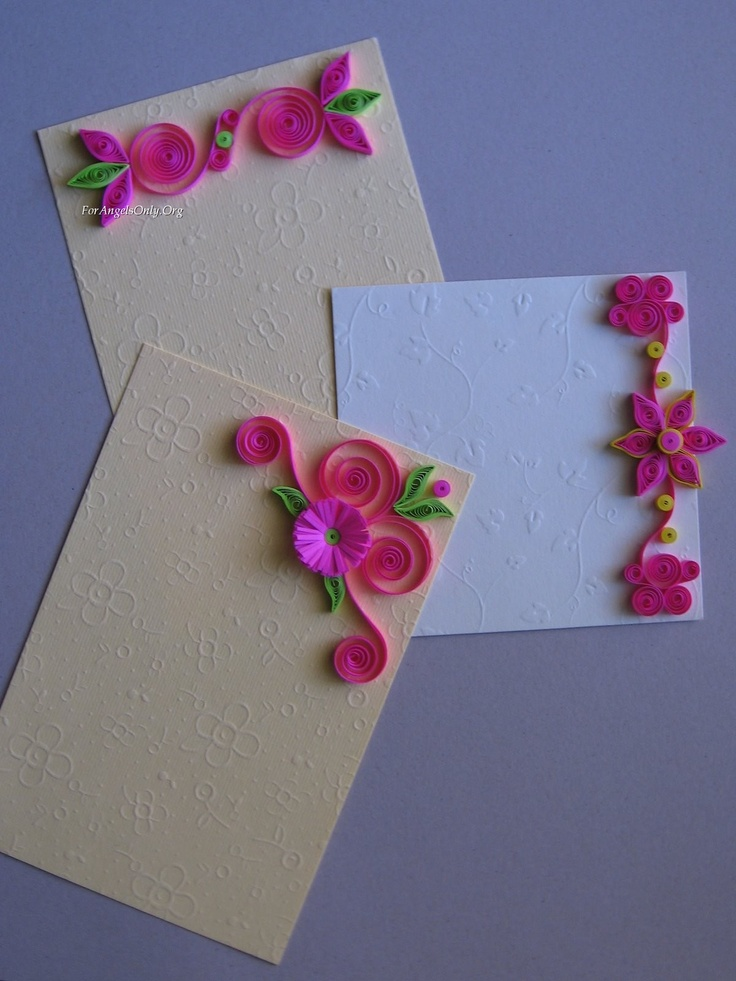 Paper quilling designs for envelopes for Best quilling designs