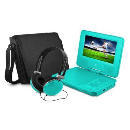 "Buy Ematic Epd707 Portable Dvd Player - 7"" Display - 480 X 234 - Teal - Dvd-r, Cd-r - Jpeg - Dvd Video, Video Cd, Mpeg-4 - Cd-da, Mp3 - 1 X Headphone Port[s] - Lithium Polymer - 2 Hour (epd707tl) at Walmart.com"