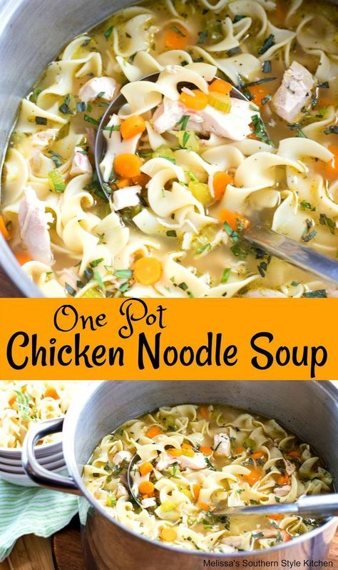 one pot chicken noodle soup in 2019  chicken noodle soup
