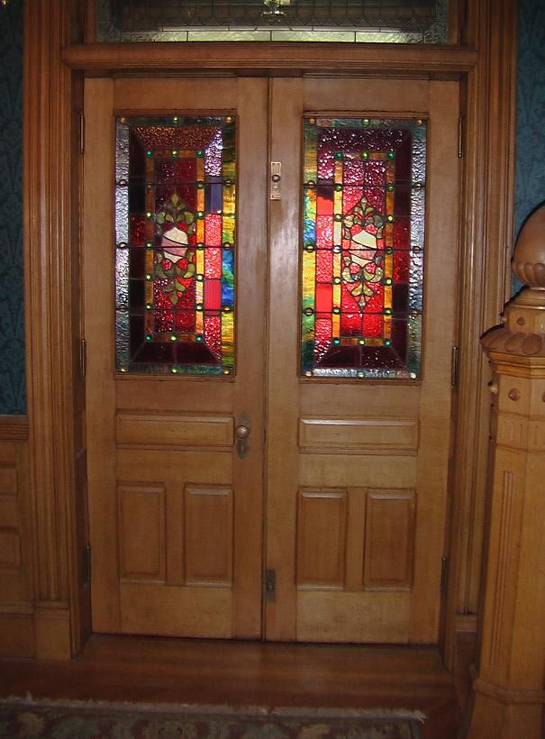Front Doors Stained Glass Front Doors Green House