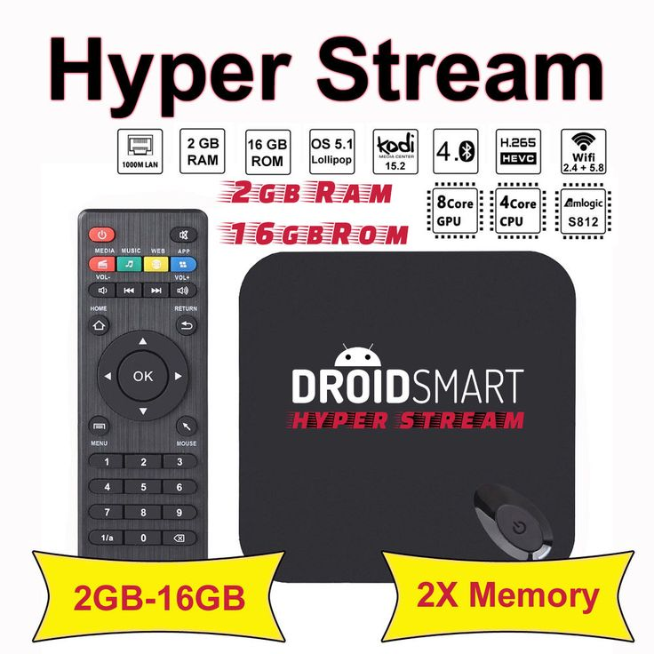 HYPER STREAM 2GB Ram 16GB Rom Android TV Box Lollipop 5.1 S812 Octo GPU4K MX3 -g in Sound & Vision, TV & Home Audio Accessories, Internet TV & Media Streamers | eBay