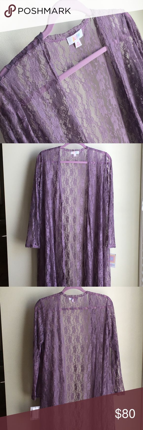 NWT LuLaRoe Lavender Purple Lace Sarah - Unicorn M Just beautiful! And, now a unicorn. NWT LuLaRoe Lavender Muted Purple Lace Sarah in size medium Gorgeous lilac, lavender, or pale muted purple shade. Elegant lace. No pockets. Runs true to size to a little generous with some stretch. Perfect year-round, but especially in Spring & Summer Quite versatile as you can dress it up or wear it over a t-shirt with jeans or even shorts. Made in Mexico.  90% Nylon 10% Spandex I am not a consultant :)…