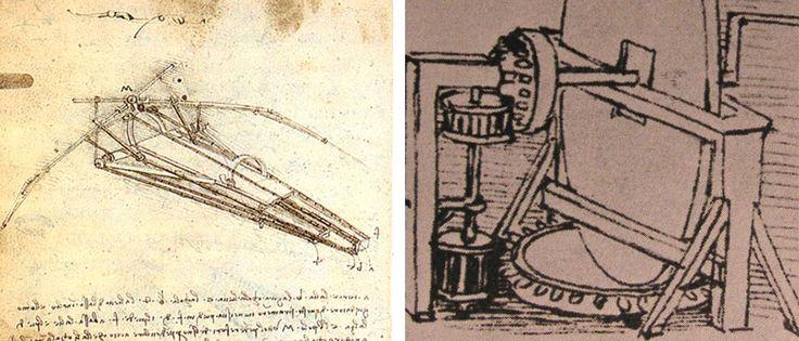 Bocetos de inventos - Leonardo Da Vinci