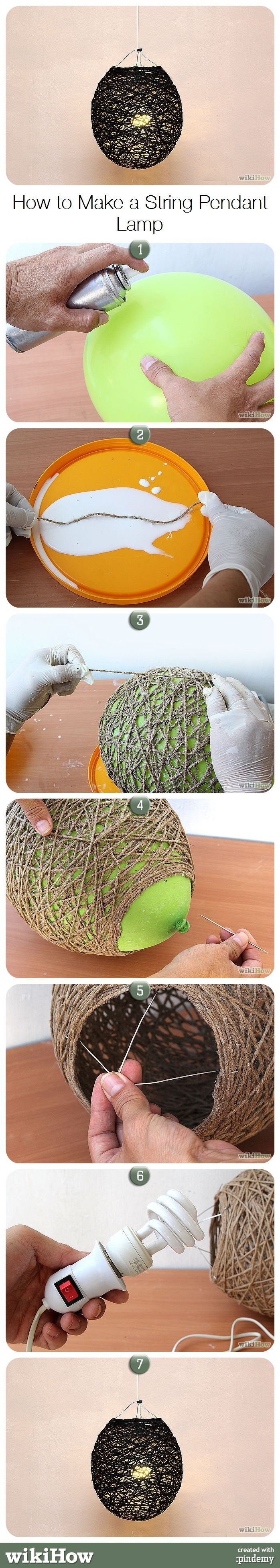 How to Make a String Pendant Lamp
