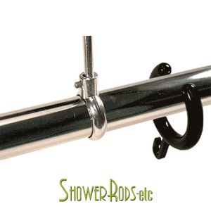 Open Top Shower Curtain Rings   To Get Around Ceiling Supports For Clawfoot  Shower Enclosure